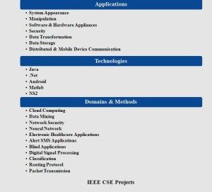 IEEE CSE PROJECTS